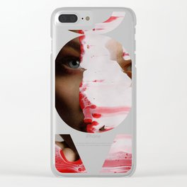 Red 001 Clear iPhone Case