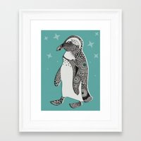 penguin Framed Art Prints featuring Penguin by Rachel Russell