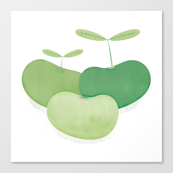 Three peas from a pod Canvas Print