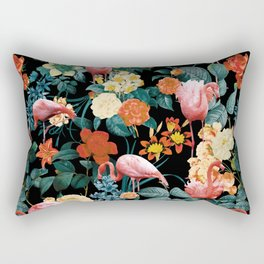 Floral and Flemingo II Pattern Rectangular Pillow