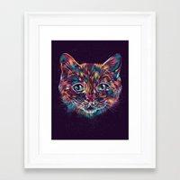 space cat Framed Art Prints featuring Space Cat by dan elijah g. fajardo