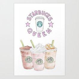 queen of coffee Art Print