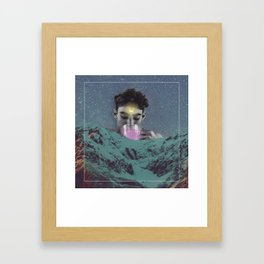 When the moon goes to bed. Framed Art Print