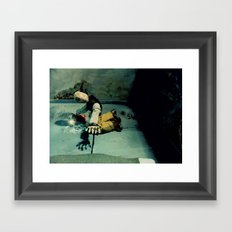 A Glimmering Hope within My Shattered Soul Framed Art Print