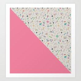 Pez Otomi pink by Ana Kane Art Print