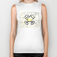 champagne Biker Tanks featuring Champagne toast by Hanscom Park Studio