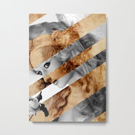"Leonardo's ""Head of a Woman"" & Brigitte  Bardot Metal Print"