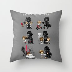 Father of the Year Throw Pillow