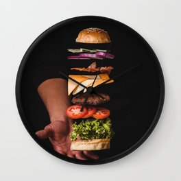 Burger Time Lapse Wall Clock