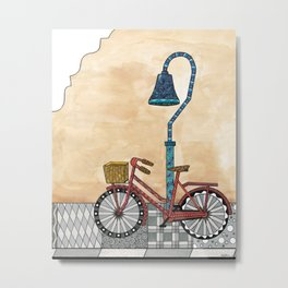 Bicycle on the El Camino Real Metal Print