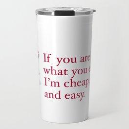 WHAT YOU EAT Travel Mug