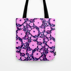 Layered Leaf Floral Pink Tote Bag