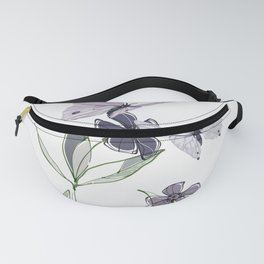Flowers and butterflies 4 Fanny Pack