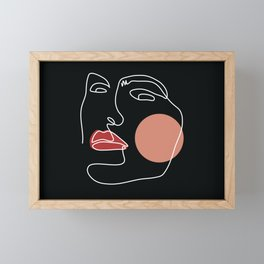 Face Line Art (Back) Framed Mini Art Print