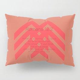 Romans 12v2 Red Pillow Sham