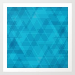 Gentle light blue triangles in the intersection and overlay. Art Print