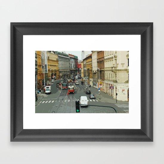 Retro PRAHA Framed Art Print