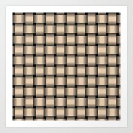 Bisque Brown Weave Art Print