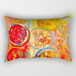 Against The Rain Abstract Orange Rectangular Pillow