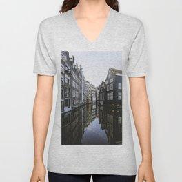 Waterways of Amsterdam Unisex V-Neck