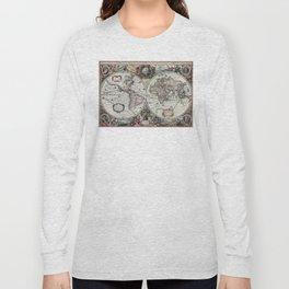 1630 Nova Totius Terrarum Orbis Tabula Map Long Sleeve T-shirt