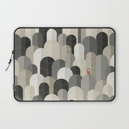 081 - Owly visits the poplar forest in autumn IV Laptop Sleeve