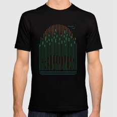 Tiger In The Grass Black MEDIUM Mens Fitted Tee
