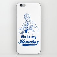 dodgers iPhone & iPod Skins featuring Vin is my homeboy by GOGILAND