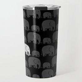 Elephant Black Travel Mug