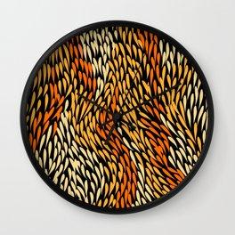 Authentic Aboriginal Art - Grass Wall Clock