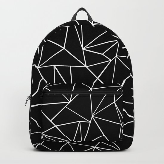 Abstraction Outline Black and White Backpack