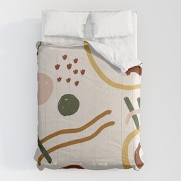 Abstraction. Series: Oil Paint Smears. Culinary fantasy. Breakfast. Comforters