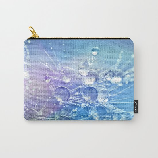 Diamond Dew Flowers (Periwinkle Lavender) Carry-All Pouch