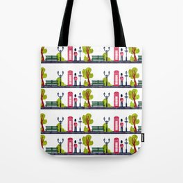 Phone Booth and Guard Pattern Tote Bag