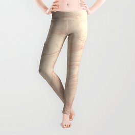 peach marbleized effect marble painting Leggings