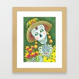 TULIPS DIVINE Spring Skeleton Framed Art Print