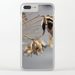 Spikey Flower Clear iPhone Case