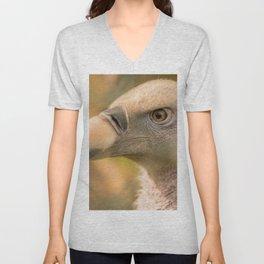 White Vulture Unisex V-Neck