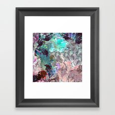 Marble Paint Texture Pink Green Red Blue Framed Art Print