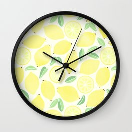 Summer Lemons Wall Clock