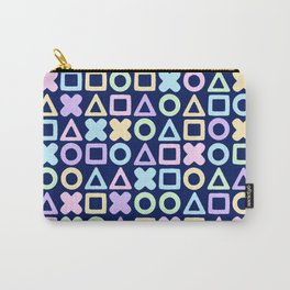 A weird game of pastel tic tac toe in the dark Carry-All Pouch
