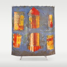 Colourful City Shower Curtain