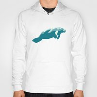 manatee Hoodies featuring Manatee by Gallery Girl