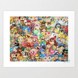Nintendo Tribute Art Print