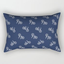 BICYCLE in Navy Rectangular Pillow