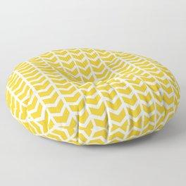 mustard chevron Floor Pillow