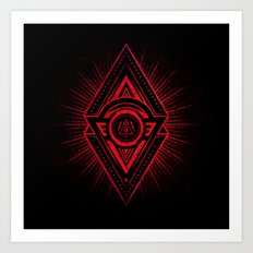 The Eye of Providence is watching you! (Diabolic red Freemason / Illuminati symbolic) Art Print