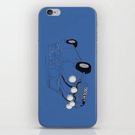 The Italian Job Blue Mini Cooper iPhone Skin