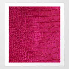 Croco leather effect - cherry Art Print