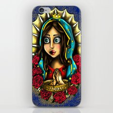 Lady Of Guadalupe (Virgen de Guadalupe) BLUE VERSION iPhone & iPod Skin